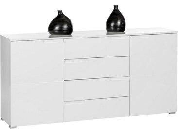 Carryhome SIDEBOARD Weiß , 2 Fächer, 165x80x40 cm