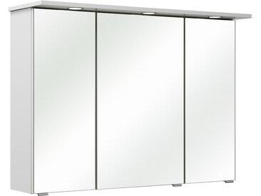 Xora SPIEGELSCHRANK Weiß , 6 Fächer, 96x70x18 cm