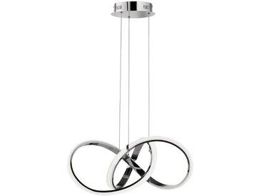 Ambiente LED-HÄNGELEUCHTE , Silber, Metall, 55x150x55 cm