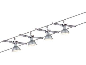 Paulmann Licht WIRE SEILSYSTEM 4ER-SET 4X4W , Chrom, Metall