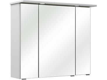 Xora SPIEGELSCHRANK Weiß , 6 Fächer, 80x70x18 cm