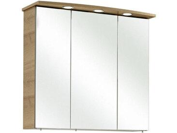 Xora SPIEGELSCHRANK Braun , Glas, 6 Fächer, 65x72x20 cm