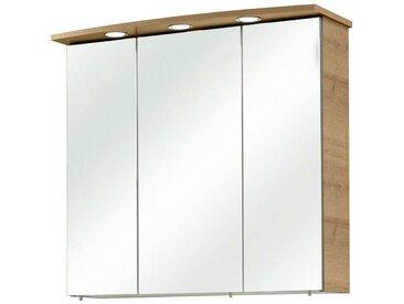 Xora: Spiegelschrank, Glas, Eiche, B/H/T 65 72 20