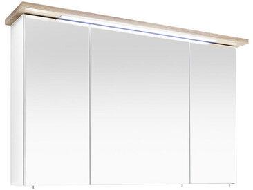 Xora SPIEGELSCHRANK Weiß, Braun , 6 Fächer, 110.0x72.0x20.0 cm