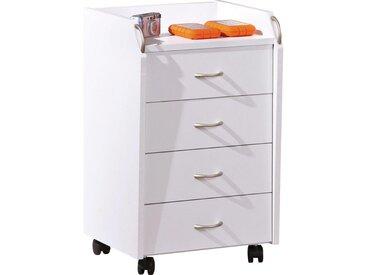 Livetastic ROLLCONTAINER Weiß , Kunststoff, 40x65x36 cm