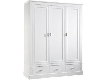 Jimmylee BABYKLEIDERSCHRANK Isolde Weiß , 4 Fächer, 150.5x192x56 cm