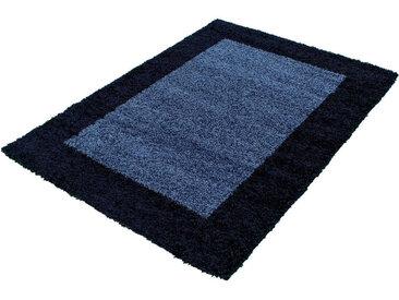 Novel HOCHFLORTEPPICH 200/290 cm gewebt Blau , Bordüre, 200x290 cm