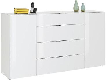 XXXLutz SIDEBOARD Weiß , Metall, 4 Fächer, 180.4x98.7x40 cm
