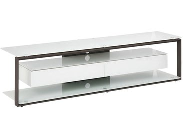 Livetastic TV-RACK Metall, Glas Weiß , 170x42x40 cm