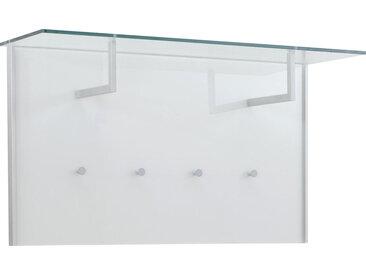 Dieter Knoll GARDEROBENPANEEL Weiß, Silber , Metall, Glas, 102x57x32.5 cm