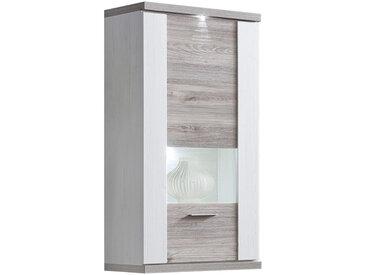 Xora HÄNGEVITRINE Weiß, Braun , Glas, 3 Fächer, 65x131x42 cm