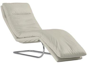 Chilliano RELAXLIEGE Echtleder Weiß , Leder, 1-Sitzer, 65x101x158 cm