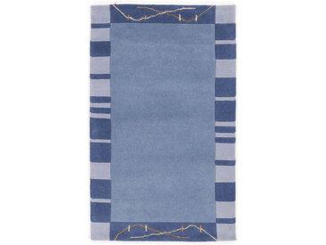 Esposa Wollteppich 250/350 cm Blau , Bordüre, 250 cm