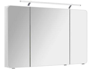 Xora SPIEGELSCHRANK Weiß , Glas, 6 Fächer, 120x72x17 cm