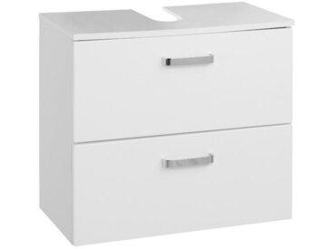 Carryhome WASCHBECKENUNTERSCHRANK Weiß , 60x54x35 cm