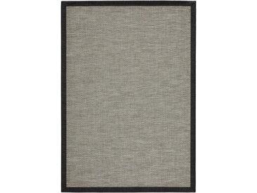 Linea Beigea FLACHWEBETEPPICH IN-/ OUTDOOR 170/230 cm Grau , Bordüre, 170 cm