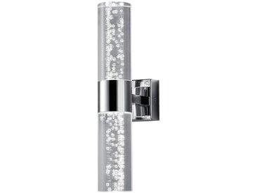 Trio Leuchten GmbH BADEZIMMER-WANDLEUCHTE, Weiß, Silber, Metall, Kunststoff, 7.0x30.0 cm