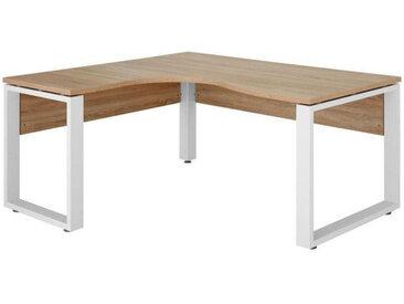 Voleo ECKSCHREIBTISCH Weiß, Beige , Metall, 160x75.60 cm