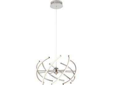 Globo LED-HÄNGELEUCHTE , Weiß, Metall, Kunststoff, 120 cm