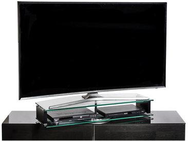 XXXLutz TV-AUFSATZ Metall, Glas Schwarz , 90x15x38 cm