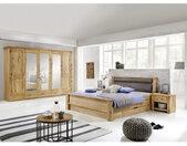 Landscape SCHLAFZIMMER , Braun, Eiche , Holz, Glas , Eiche , furniert, massiv , 6 Fächer , 180x200 cm , gepolstertes Kopfteil, Lattenrosthöhe individuell einstellbar , Schlafzimmer, Komplette Schlafzimmer