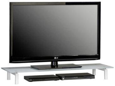 XXXLutz TV-AUFSATZ Glas Weiß , 110x12.5x35 cm