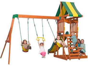XXXLutz Spielturm Sunnydale , Braun, Holz, Zeder, 406.4x284.4x328 cm