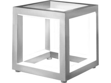 XXXLutz LED-TISCHLEUCHTE , Silber, Metall, Kunststoff, 12x12 cm