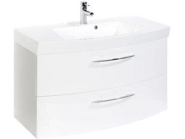 Xora WASCHTISCHKOMBI Weiß , Metall, 100x54x47 cm