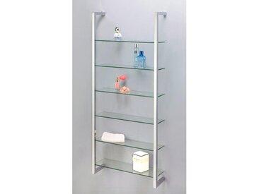 XXXLutz WANDREGAL Silber , Glas, 6 Fächer, 48x110x13.5 cm