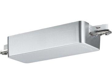 Paulmann Licht SCHIENENSYSTEM-EINSPEISER , Weiß, Silber, Metall, 15.5x3.5x5.6 cm