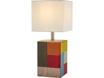 Tischleuchte, Mehrfarbig, Weiß, H 35