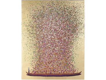 Kare-Design BILD , Rosa, Gold, Rot, massiv, 120x160x3.5 cm