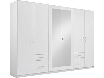 Livetastic: Kleiderschrank, Holzwerkstoff, Weiß, B/H/T 270 210 58