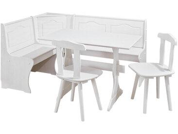 MID.YOU ECKBANKGRUPPE Kiefer massiv Weiß , Holz, 130 cm