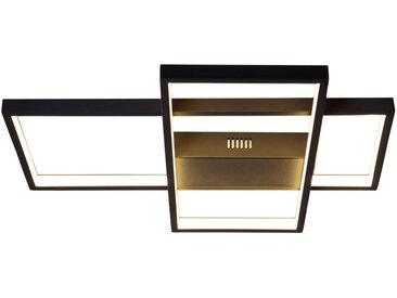 Ambiente LED-DECKENLEUCHTE , Schwarz, Metall, Kunststoff, 40x6 cm