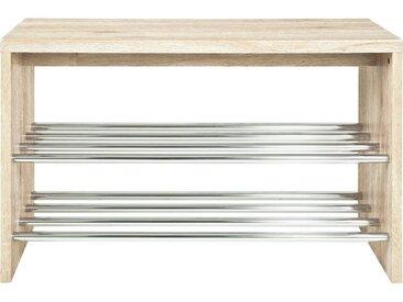 Carryhome SCHUHBANK Braun , Metall, 81x55x30 cm