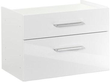 XXXLutz HÄNGEREGISTERELEMENT Weiß , Kunststoff, 76x51x39 cm