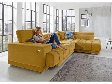 Beldomo Style ECKSOFA Geld Mikrofaser , 5-Sitzer, 222 cm