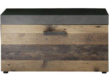 Livetastic GARDEROBENBANK Grau, Braun , Metall, 80x45x37 cm