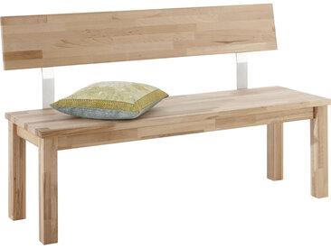 Carryhome SITZBANK Kernbuche massiv Braun , Holz, 3-Sitzer, 140x83x53 cm
