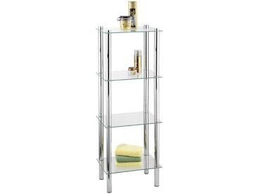 Wenko BADEZIMMERREGAL Metall, Glas Silber , 30x104 cm