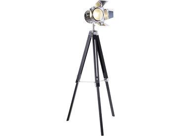 XXXLutz STEHLEUCHTE, Schwarz, Metall, 56.5x100-140 cm