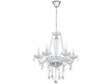 Eglo Leuchten Gmbh KRONLEUCHTER, Weiß, Chrom, Metall, Kunststoff, Glas, 130 cm