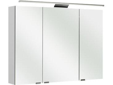 Sadena SPIEGELSCHRANK Weiß , 4 Fächer, 100x70x16 cm