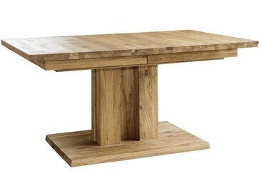 Livetastic AUSZIEHTISCH Wildeiche massiv rechteckig Braun , Holz, 90x75 cm