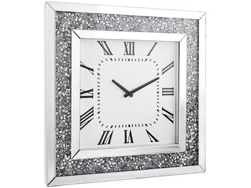 Xora WANDUHR Weiß , Glas, 50x50x5 cm