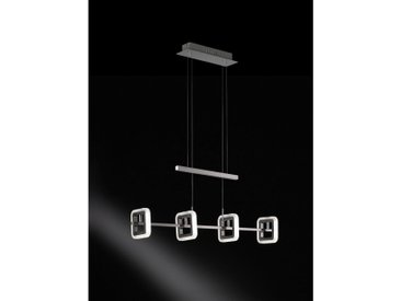 XXXLutz LED-HÄNGELEUCHTE , Silber, Silber, Metall, Kunststoff, 85x150x12.5 cm