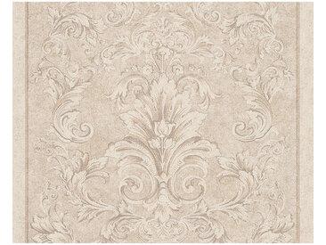 XXXLutz VLIESTAPETE 10,05 m , Beige, Weiß, Ornament, 70x1005 cm