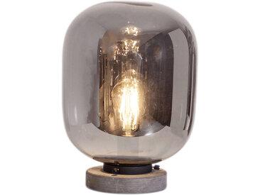 By-Rydens TISCHLEUCHTE, Weiß, Metall, Glas, 23x35 cm